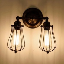 Винтажный Ретро двойной светильник, открытый настенный абажур для кафе бара Кофейни клуба(без лампы