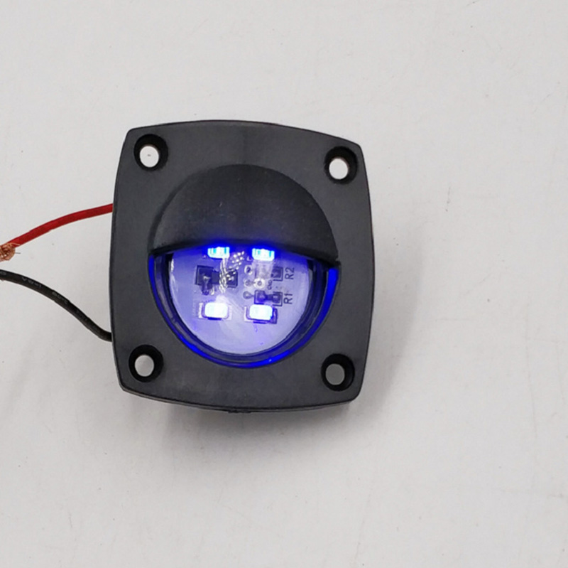 Image 3 - Marine Boat Yacht Navigation Light White Blue LED Courtesy Light Black Shell Plastic Lamp 12V DC-in Marine Hardware from Automobiles & Motorcycles