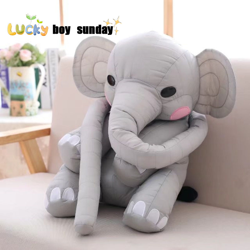 elephant toy cute long nose elephant pillow stuffed soft elephant plush kids toys funny doll gift for girl friend lucky boy sunday 60cm elephant plush toy cute big size stuffed kids toy baby elephant pillow girlfriend children christmas gift