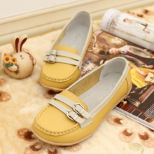 Free Shipping!Genuine Leather Flats Brief Women's Casual Shoes Sapatos Feminninos Soft Moccasins,Summer/Autumn Women Flats,8002