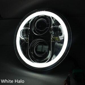 "Image 5 - 5 3/4 ""5.75 אינץ אופנוע Moto LED מקרן מלא Halo פנס עבור Dyna Sportster Softail"