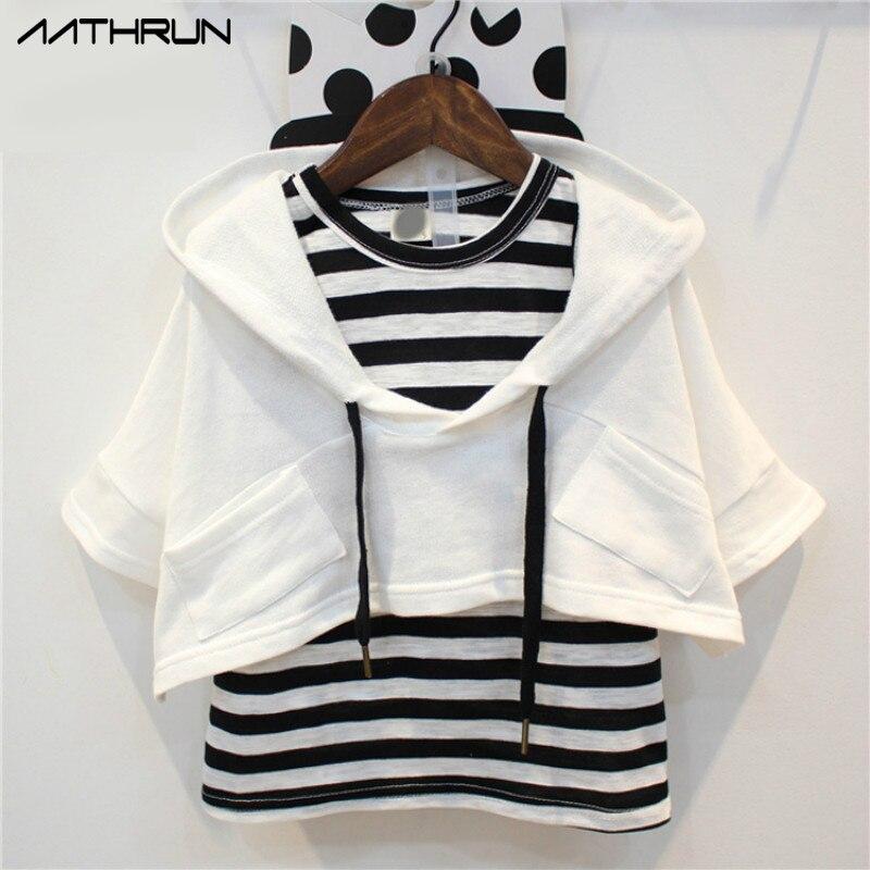 2017 Autumn Girls Children Set Fashion Sleeveless Stripe Vest 2pcs Girls Hoodie Clothes Sets Loose Short Sleeves Kids Sweatshirt соски bebe confort силиконовая стандарт 0 6 мес 2 шт