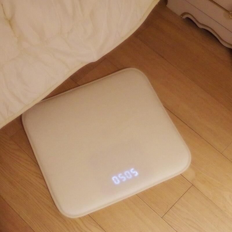 Pressure Sensitive Rug Carpet Alarm Clock  LED Smart Digital Alarm Clock  Electronic Watch Nixie Clock Floor Scale Shape Desigh  ковер будильник