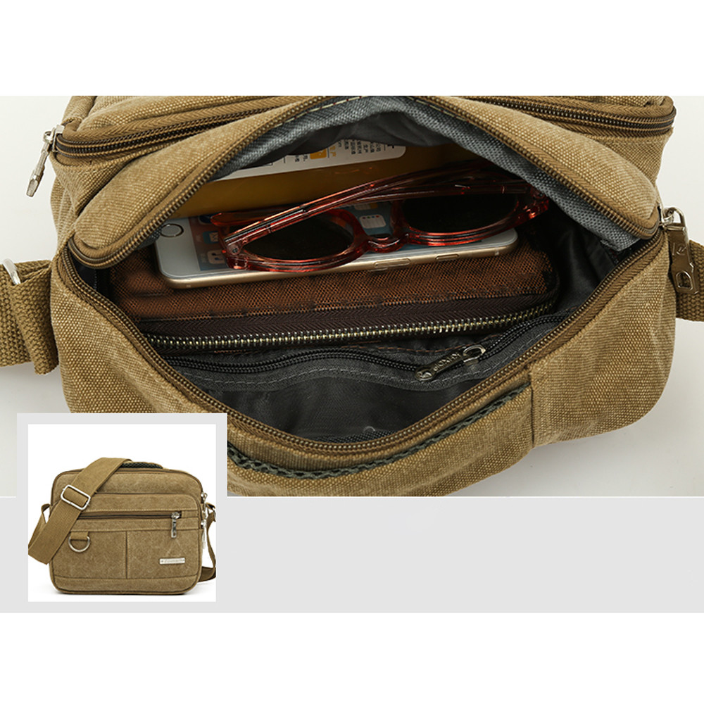 Canvas Small Side Bag for Men - Toonnystore a6601b778b9c6