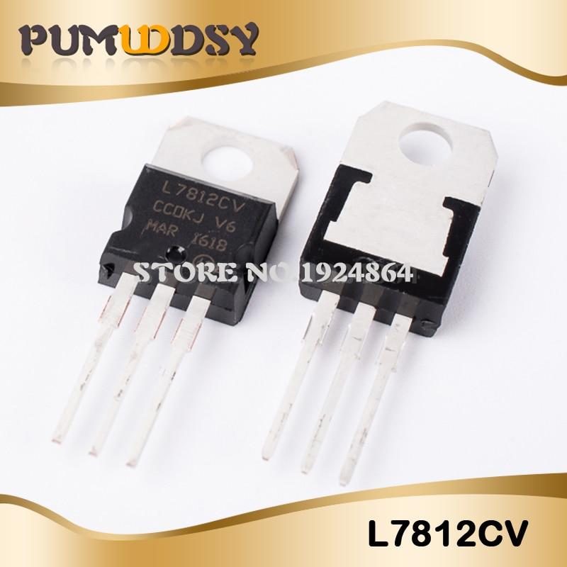 10PCS L7812CV TO-220 L7812 LM7812 7812 Positive-Voltage Regulators IC
