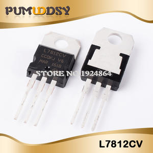 10PCS L7812CV TO-220 L7812 LM7812 7812 Positive-Voltage Regulators IC