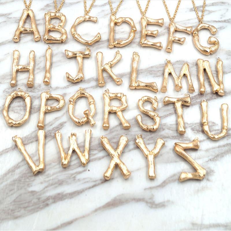 Frauen Halskette Gold Alphabet 26 Brief Vintage Anhänger Charme Temperament Mode Geschenk Für Freunde Personalisierte Schmuck Halsband