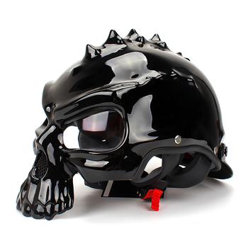 Skull Motorcycle Helmet Open Face Helmet Retro Motorbike Biker Casco Motocross Casco Moto Helmets Double-sided Wearable