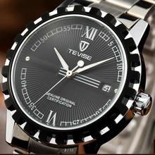 Relógios de homem relogio homer relogio homem automático relógio de marca tevise homens de moda de luxo relógios impermeável
