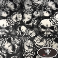 SKULL PATTERN Hydrographic Film Water Transfer Printing Film Aqua Film Hydrographics film for Motor 0.5M Wide HFY-815