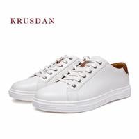 KRUSDAN новые модные Брендовая мужская обувь ручной работы из натуральной кожи спортивные кроссовки на шнуровке вулканическая обувь Для мужчи