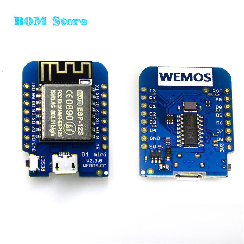 DIY mall Wemos D1 Mini V2 NodeMcu 4M bytes Lua WIFI IOT Internet of Things Development Board Based ESP8266 for Arduino