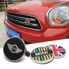 Car sticker MINI in the net 3D metal car stickers and reflective glue for BMW MINI COOPER COVER KEY R55 R56 R60 F55 F56 F54 R50 цена