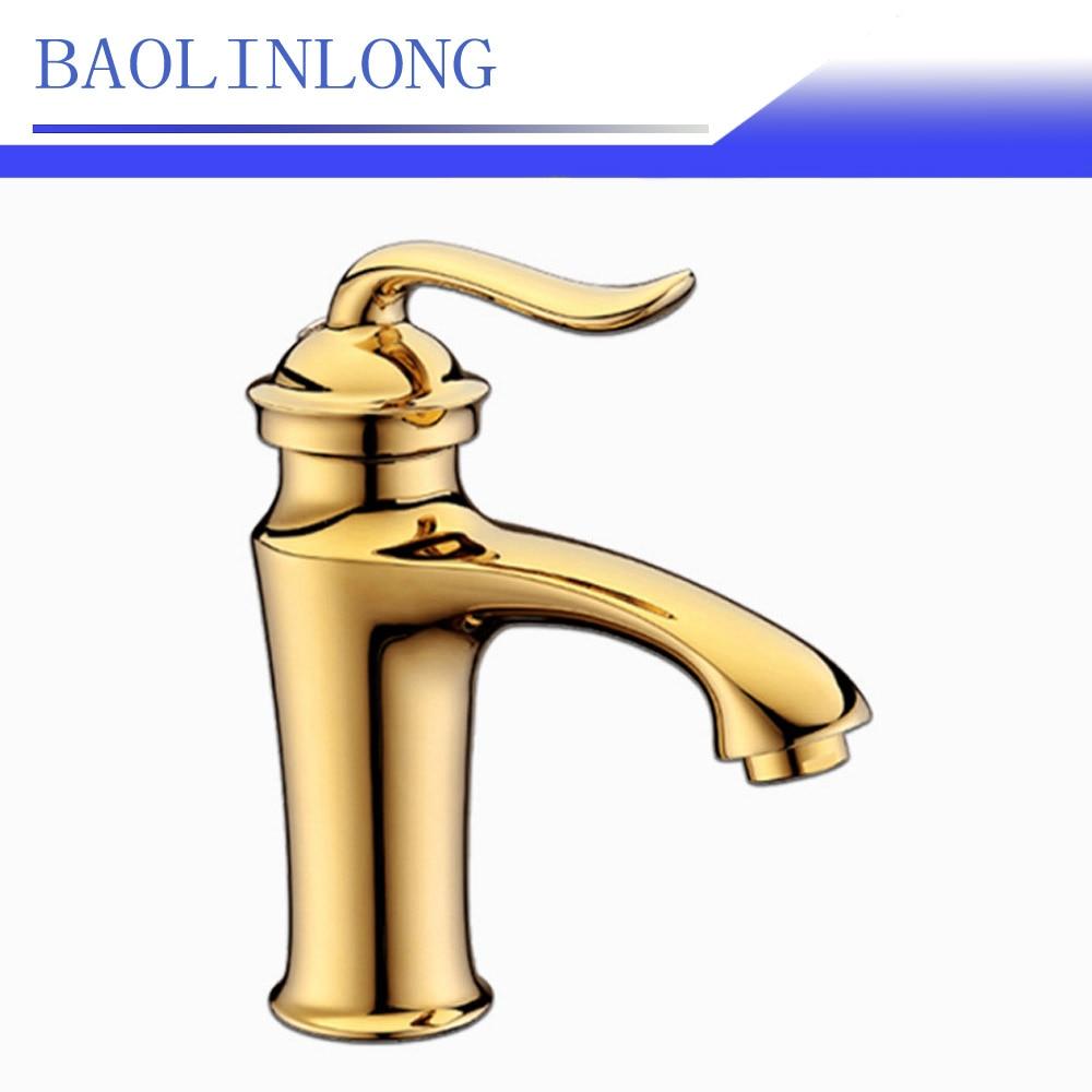 BAOLINLONG Brass Deck Mount Basin Bathroom Faucets Vanity Vessel Sinks Mixer Basin bath faucet Tap