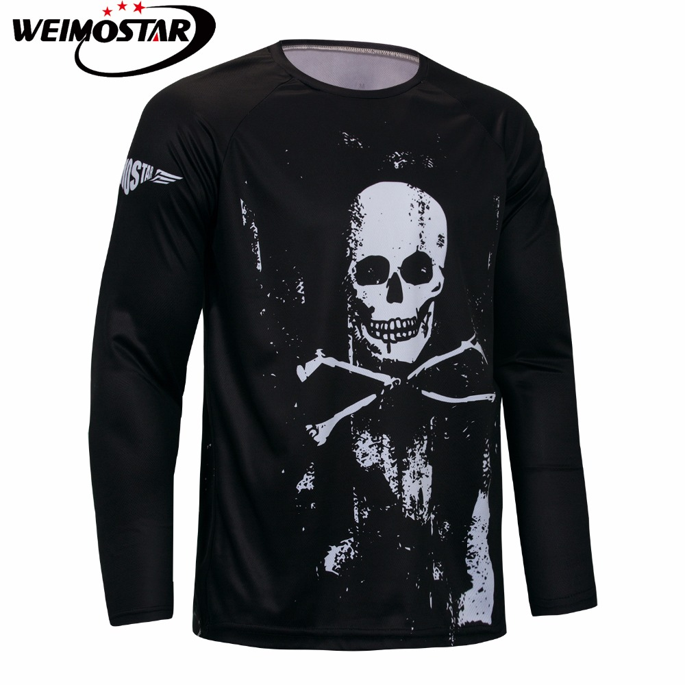WEIMOSTAR Mens Cycling Jersey Black Skull Bike Mtb DH Racing bicycle Clothing Off-Road Downhill Motocross Long Sleeve Shirt WEIMOSTAR Mens Cycling Jersey Black Skull Bike Mtb DH Racing bicycle Clothing Off-Road Downhill Motocross Long Sleeve Shirt