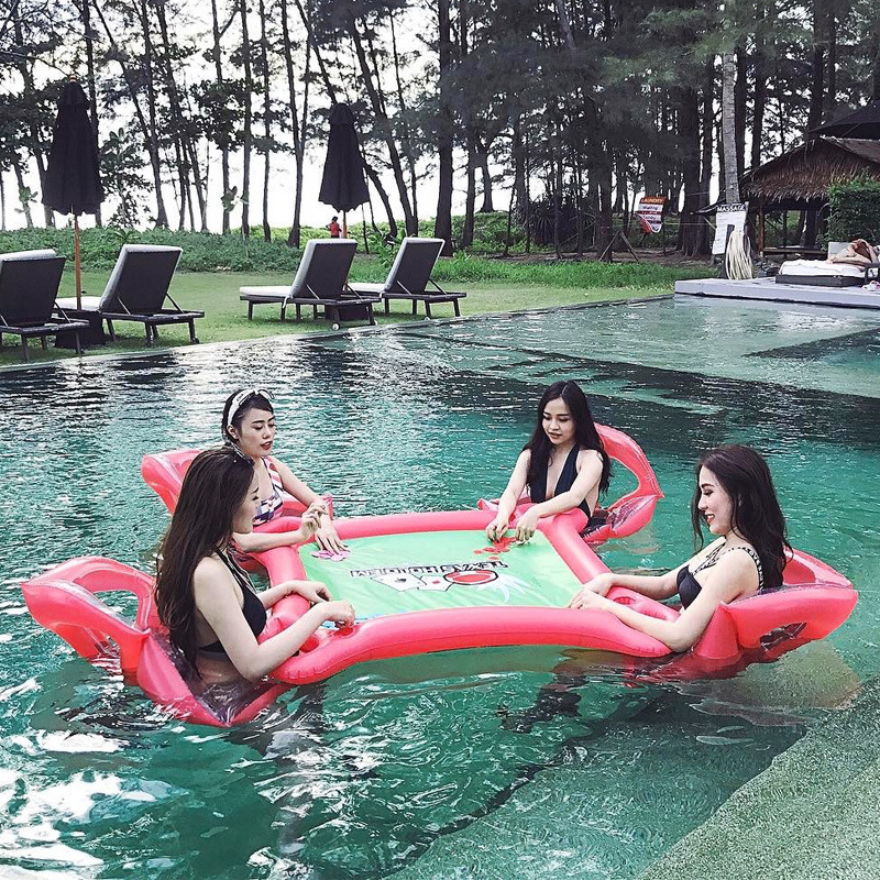Inflatable water toys children adult swimming pool water inflatable mounts floating bed floating bucket water toys river treasure water sport toys inflatable water seesaw
