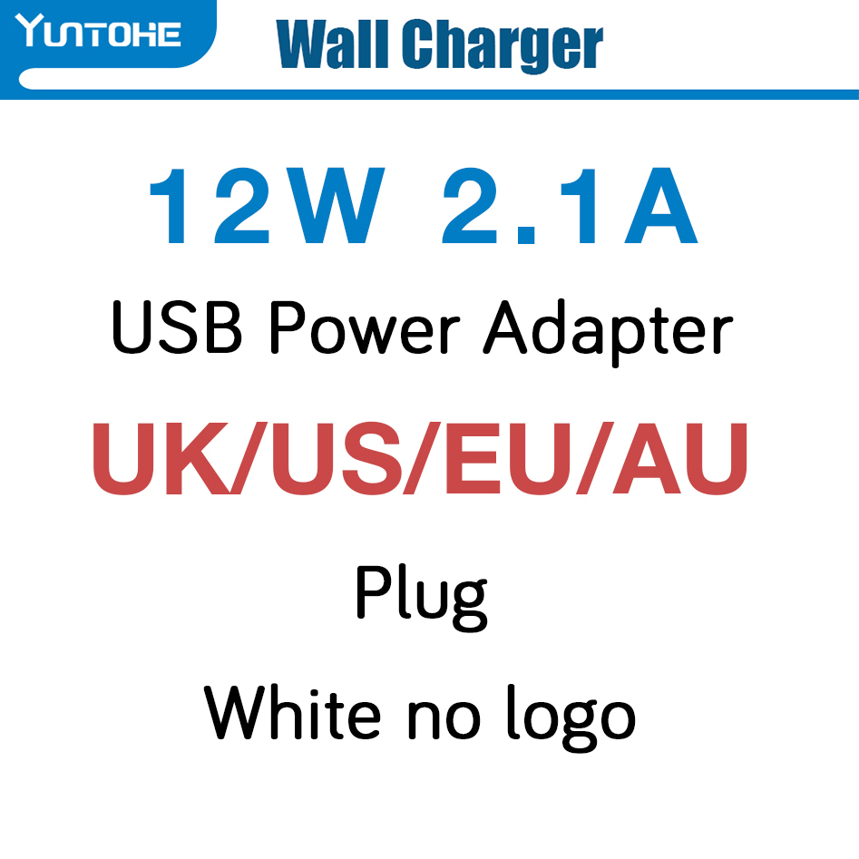 50pcs lot 2 1A 12W UK US EUAU plug AC Wall Charger usb Power Adapter For