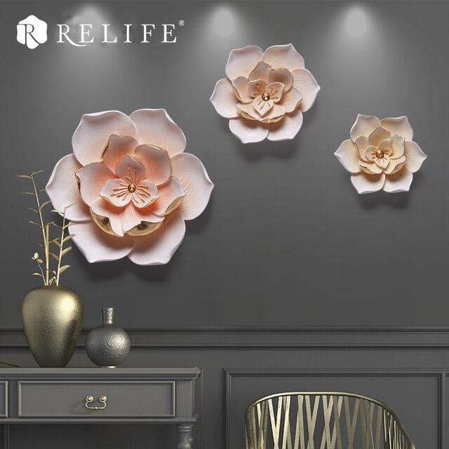 DIY 3 шт. цветок Наклейки на стену декоративные росписи диван ТВ Задний план Nordic украшения ручная роспись цветы