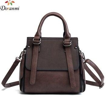 DORANMI Classic Vintage Doctor Bag For Women Luxury Brand Large Capacity Handbag Contrast Color Shoulder Crossbody Bag STB089 doctor bag