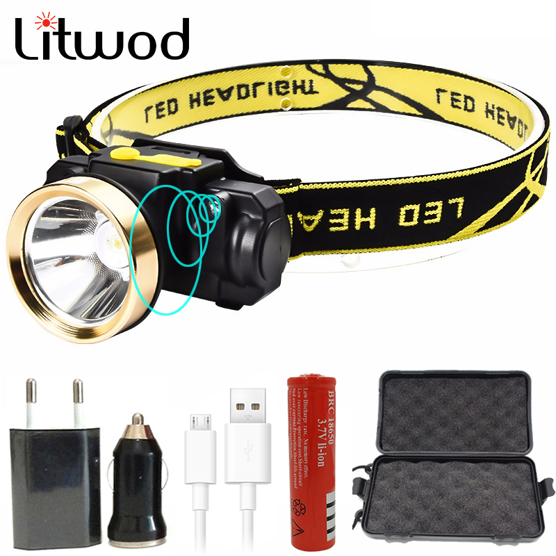 Litwod z35 rechargeable Mini Headlight Outdoor Camping Inductive Flashlight Head Torch lamp LED Body Motion Sensor Headlamp albinaly 5w led body motion sensor headlamp mini headlight rechargeable outdoor camping flashlight head torch lamp with usb