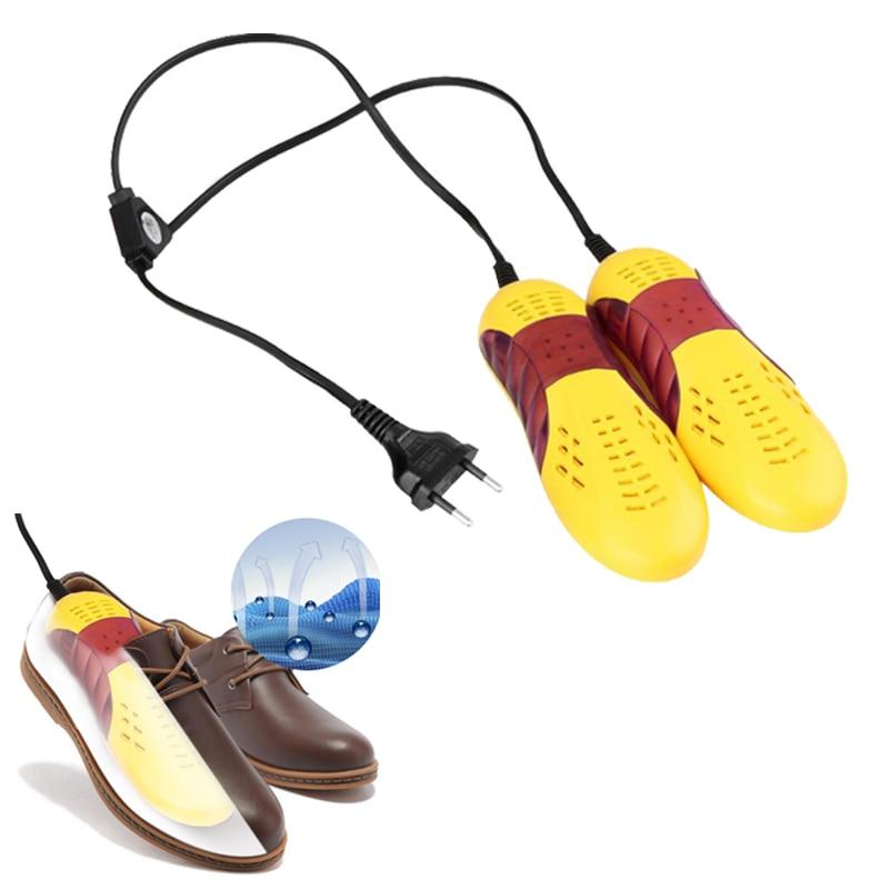 220V 10W EU Plug Race Car Shape Light Shoe Dryer Foot Protector Boot Odor Deodorant Dehumidify Device Shoes Drier Heater us007 deodorant sterilization shoes dryer drying disinfector in disinfection beriberi foot odor shoe dryer 100 240v 50 60hz