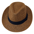 NEW Coffee Casual Straw Fedora Hat Sun Hat For Lovers