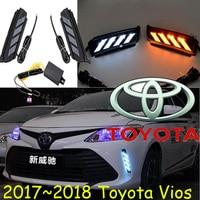 2017 2018year Vios Daytime Light Car Styling Supra Tercel Free Ship LED Car Covers Vios Fog