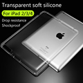 Para apple ipad 2/3/4 de tpu suave cubierta de la caja crystal clear transparent ultra thin shell accesorios de la tableta