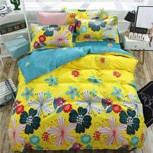 Color Flower 4pcs Kid Bed Cover Set Cartoon Duvet Cover Adult Child Bed Sheets And Pillowcases Comforter Bedding Set 2TJ-61004 4pcs geo print duvet cover set