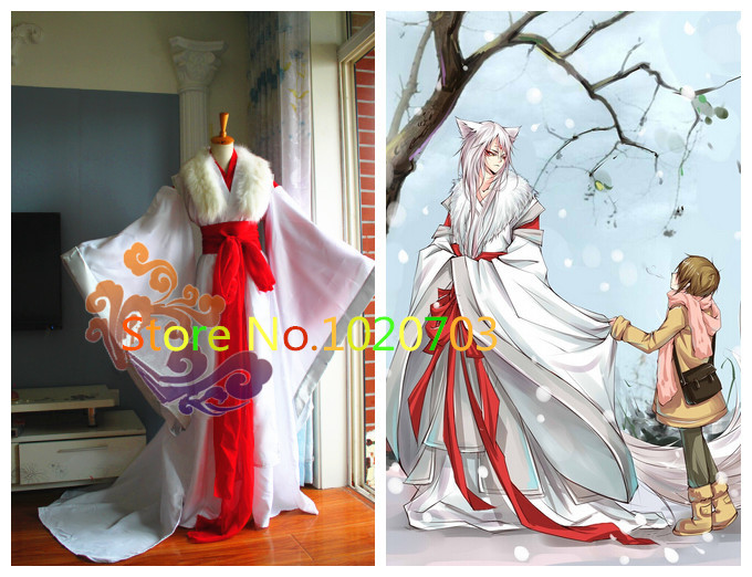 Natsume/'s Book of Friends Natsume Yuujinchou Nyanko Cosplay Costume Cloaks NEW