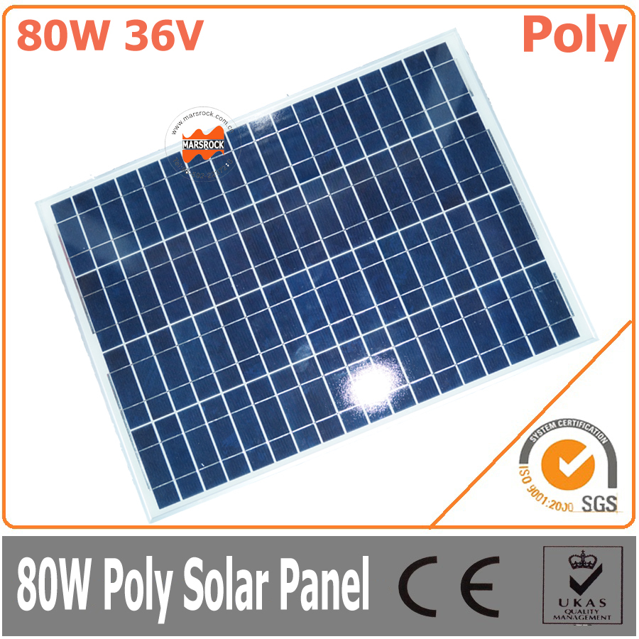80W 36V polycrystalline solar panel, high efficiency solar module80W 36V polycrystalline solar panel, high efficiency solar module
