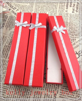 Wholesale High Quality Jewelry Box 48pcs/lot Red Paper Bracelet Necklace Gift Box Cute Jewelry Display Packaging Boxes