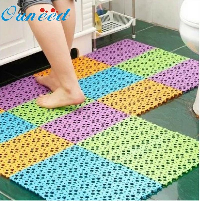 Ouneed 30x20 CM Practical Nice Plastic Non-slip Shower Bathroom Bath Mosaic Mat Good Quality*20 Gift Drop