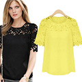 Cheap Clothes China Blusa De Renda Lace Top 2016 Summer Shirt Women Body Vintage Plus Size 5XL Camisa Feminina Chemise Femme New