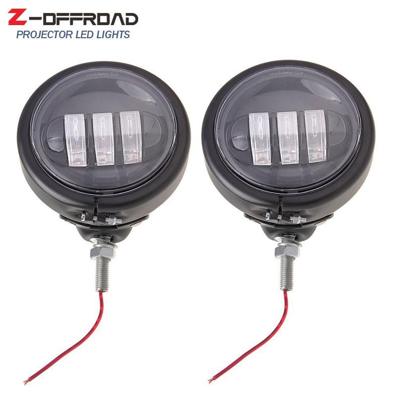 2Pcs 4.5Inch LED Fog Lights Passing Lamps 4.5