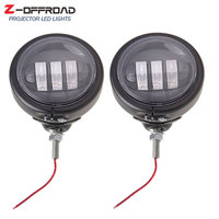 """2Pcs 4.5Inch LED Fog Lights Passing Lamps 4.5"""" LED Auxiliary Fog Passing Lights Housing Bucket For  Electra Glide