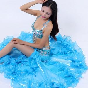Image 3 - Performance Belly Dancing Costumes Oriental Dance Outfits 3pcs Women Belly Dance Costume Set Bra Belt Skirt