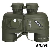 BIJIA 7x50 military binoculars rangefinder professional waterproof telescope with tripod interface sailing compass все цены