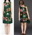 2016 Новый Стиль Милан Творения Платье Принцессы Семья Одежда Девушки Мода Повседневная Семья платье Мать Дочь Платья