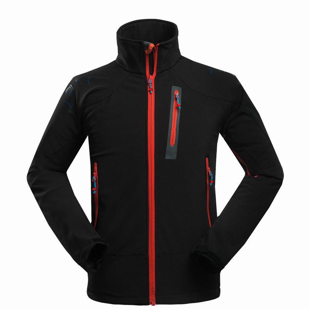 Winter Soft Shell Hiking Jackets Outdoor Sport Hoodied Camping Trekking Ski Waterproof Fleece Inside Hiking Jacket
