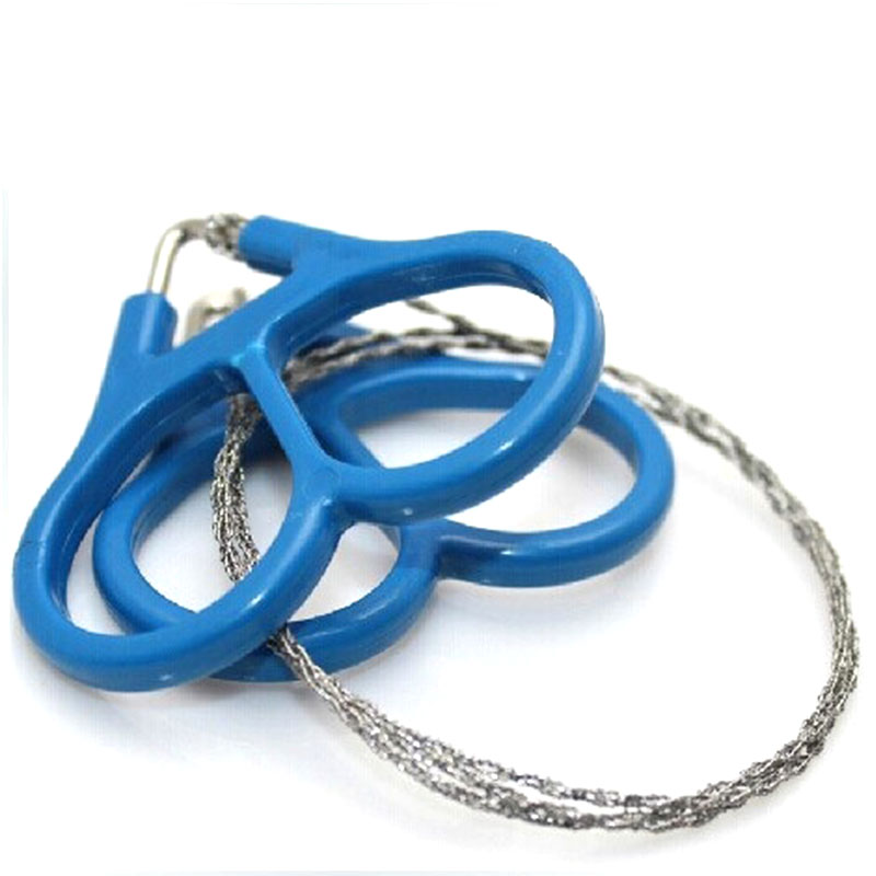 NEW EDC Emergency Gear Stainless Steel Wire Saw Outdoor Practical Camping Hiking Manual Hand Steel Rope Chain Saw Survival Tools()
