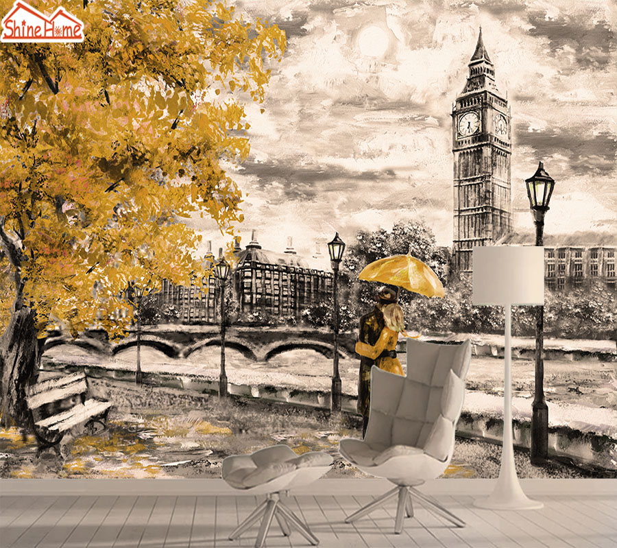 City Photo Mural Wallpaper 3d Wall Paper Papers Home Decor Wallpapers For Walls In Rolls Living Room Bedroom Bedroom Big Ben