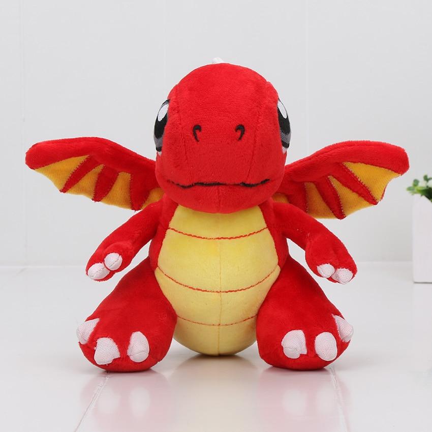 Игры Горячие 16.5 см в dragonvale Плюшевые игрушки Красный Огненный Дракон Dragonite Cha ...