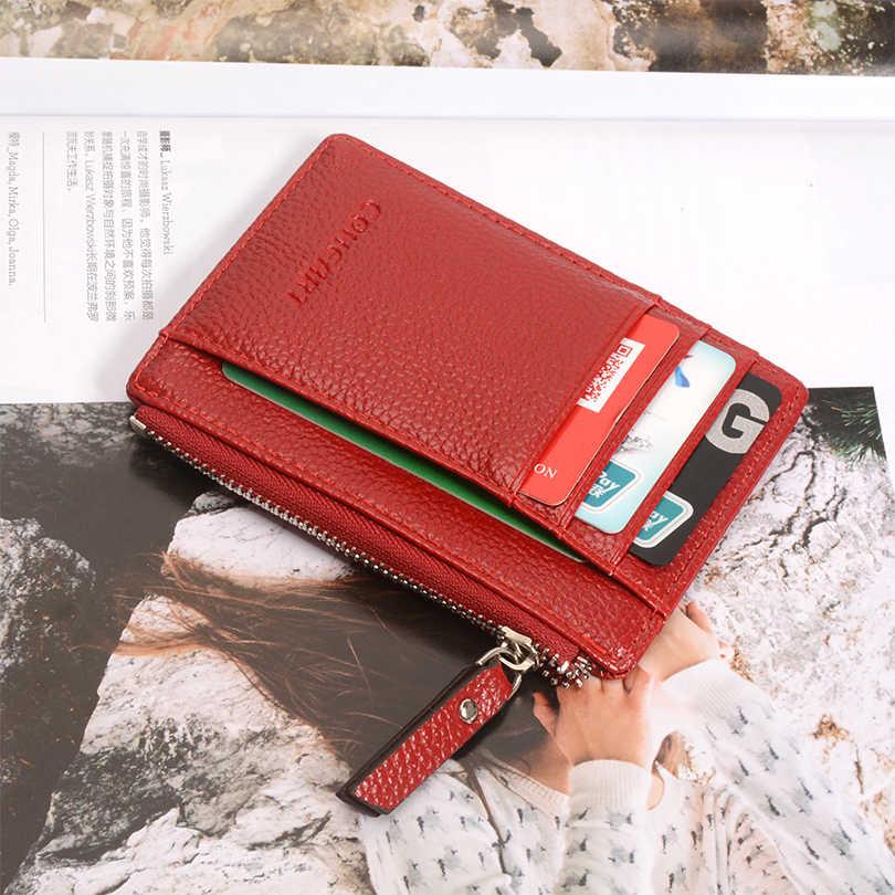 COHEART tarjeta monedero de cuero pequeño cartera ultrafina mujer tarjetero mujer monedero moneda Mini calidad superior ¡promoción!