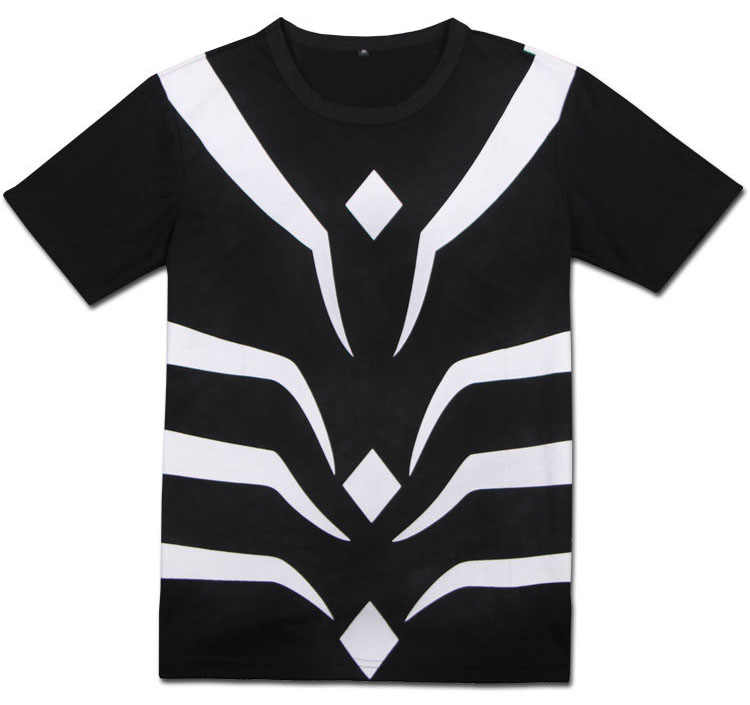 Anime A Certain Magical Index Accelerator Black Tee Cosplay Costume Short Sleeve T-shirt Daily Casual Top
