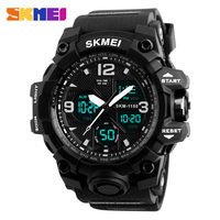 SKMEI Men Sport Watches Digital Chronograph Double Time Alarm Watch 50M Watwrproof EL Light Wristwatches Relogio