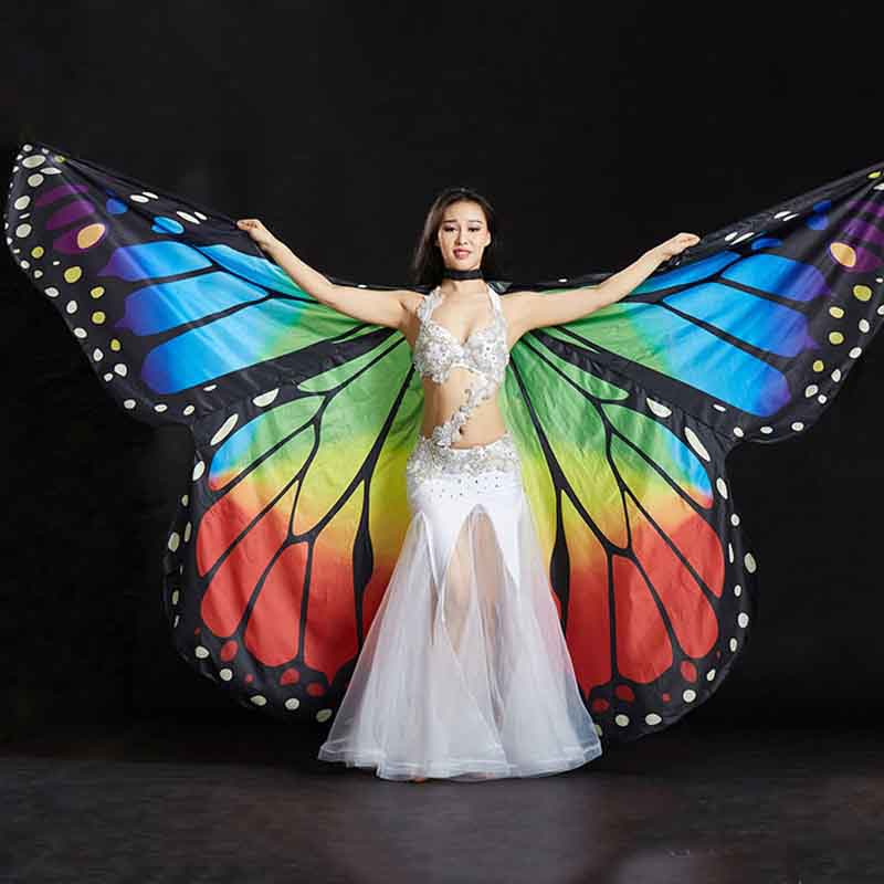 Hot Selling Belly Dance Isis Wing Oriental Design New Wings with Sticks Bollywood Butterfly Wings Adult kids Belly Dance Costume
