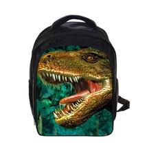 3d Jurassic Dinosaurs Backpack Students School Bag Rucksack Mochila Customize