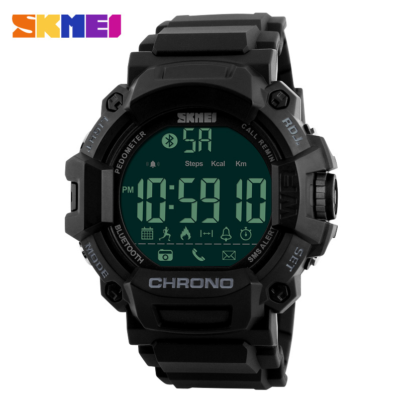 SKMEI 2018 Smart Watch Men Sport Watch Digital Fashion Top Brand Outdoor Pedometer Calorie APP Remind Man Smart Watches New 1249