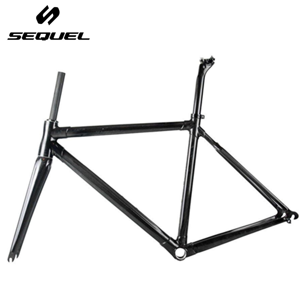 SEQUEL DCRF03 Toray 800 3k glossy finished cadre velo route carbone BSA Di2 and Mechanical Both